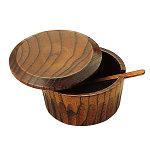 木製蓋付七味入 [W15303]