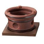 陶器・丸コンロ (茶) ※固型燃料専用 [W21243]