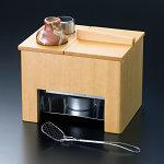 白木湯豆腐セット (1人用) (豆腐すくい・汁次・火皿付) ※塗装付 [W23107]