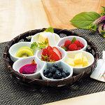 オードブル染篭B (花型パレット皿セット) [W24676]