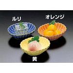 小判型菊皿 (ルリ) [W26386]
