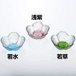 硝子ミニ小付 花舞 浅紫 [W26863]