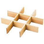 正角弁当用仕切 九ツ切 [W27523]