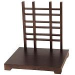 木製ディスプレイスタンド 古美色 格子タイプ [W43476]