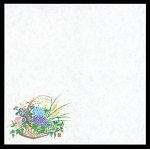 無蛍光紙 花摘み篭耐油天紙 4寸 夏 100枚 [W65553]