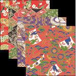 友禅千代紙 2.5寸 100枚 (各25枚x4柄) [W66521]
