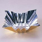 深絞りプレス加工 6号アルミ箔鍋 (ゴールド) (FN18G) 200枚 [W80045]